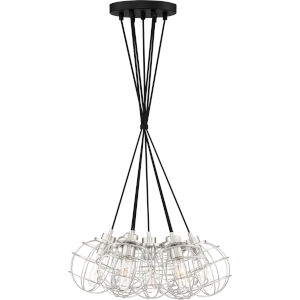 Navigator Earth Black 22-Inch Seven-Light Pendant