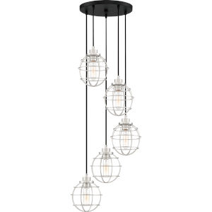 Navigator Earth Black Five-Light Pendant