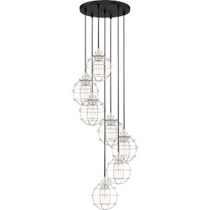 Navigator Earth Black 18-Inch Seven-Light Pendant