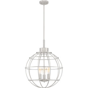 Navigator Brushed Nickel Three-Light Pendant