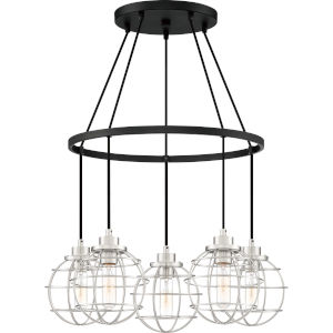 Navigator Earth Black Five-Light Chandelier