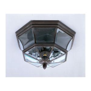 Newbury Bronze Outdoor Flush Ceiling Light