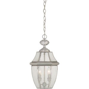 Newbury Pewter 10.5-Inch Two-Light Outdoor Pendant