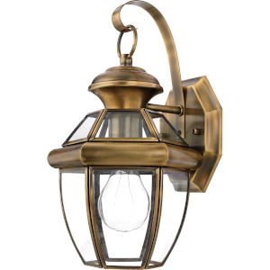 Newbury Small Wall Lantern- Antique Brass