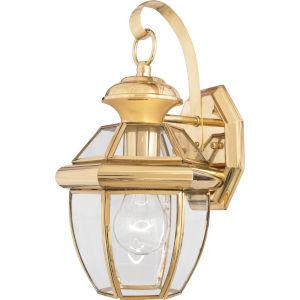 Newbury Small Wall Lantern - Polished Brass