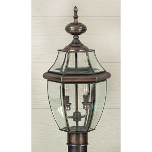 Newbury Small Aged Copper Outdoor Post Mount
