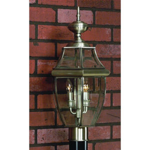 Newbury Pewter Outdoor Post-Mounted Lantern