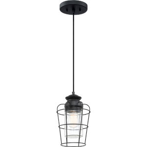 Olson Earth Black One-Light Mini Pendant