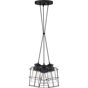 Olson Earth Black 11-Inch Three-Light Pendant