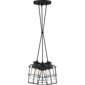 Olson Earth Black 11-Inch Three-Light Pendant
