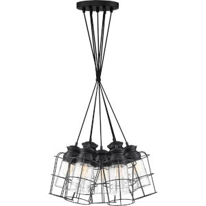 Olson Earth Black 22-Inch Seven-Light Pendant