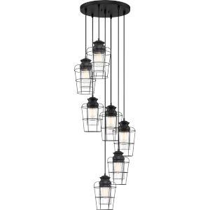 Olson Earth Black 18-Inch Seven-Light Pendant