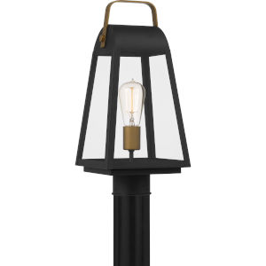 O-Leary Earth Black One-Light Outdoor Post Mount