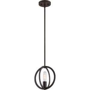 Orion Western Bronze 9-Inch One-Light Mini Pendant