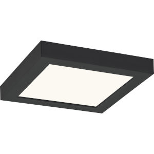 Outskirts Earth Black Eight-Inch LED Flush Mount