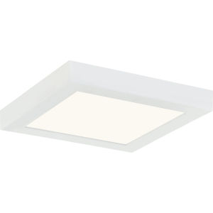Outskirts White Lustre Eight-Inch LED Flush Mount