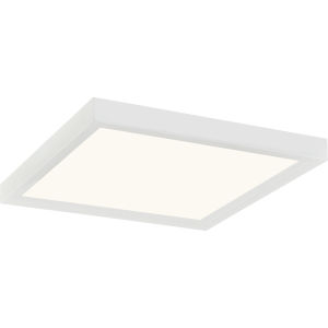 Outskirts White Lustre 11-Inch LED Flush Mount