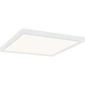 Outskirts White Lustre 15-Inch LED Flush Mount