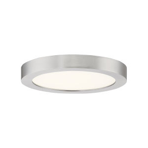 Outskirt Brushed Nickel Eight-Inch LED Flush Mount