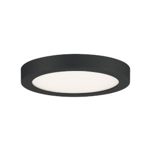 Outskirts Earth Black 8-Inch LED Flush Mount with White Acrylic Shade