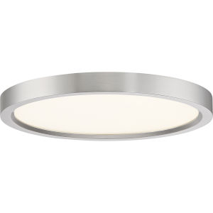 Outskirt Brushed Nickel 11-Inch LED Flush Mount