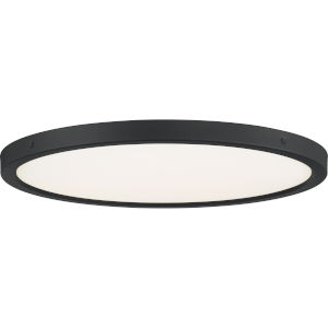 Outskirts Earth Black 20-Inch LED Flush Mount with White Acrylic Shade