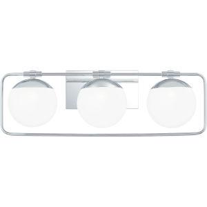 Padgett Polished Chrome Three-Light Bath Vanity