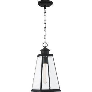 Paxton Matte Black Seven-Inch One-Light Outdoor Pendant