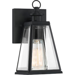 Paxton Matte Black Five-Inch One-Light Outdoor Wall Sconce