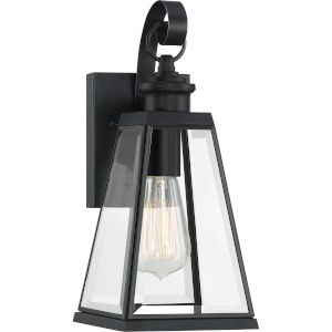 Paxton Matte Black Six-Inch One-Light Outdoor Wall Sconce