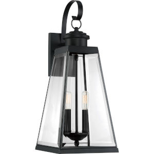 Paxton Matte Black Nine-Inch Two-Light Outdoor Wall Sconce
