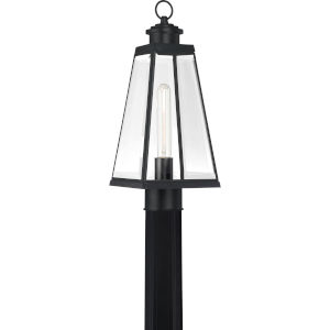 Paxton Matte Black Seven-Inch One-Light Outdoor Post