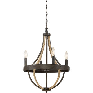 Pembroke Tarnished Bronze Four-Light Chandelier