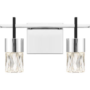 Adena Polished Chrome Two-Light LED Bath Vanity