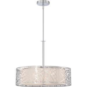 Platinum Collection Abode Polished Chrome Three-Light Drum Pendant