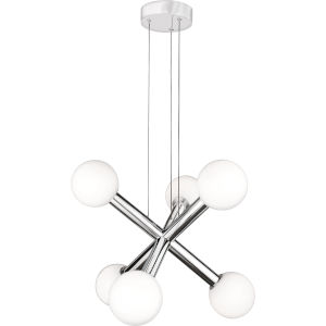 Platinum Collection Affinity Polished Chrome LED Chandelier