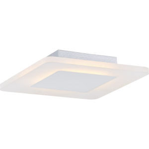 Platinum Collection Aglow 11-Inch White Lustre LED Flush Mount