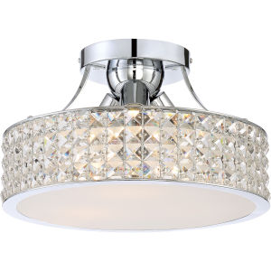 Platinum Collection Alexa Polished Chrome Three-Light Semi Flush Mount