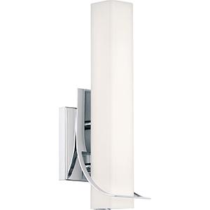 Platinum Collection Blade Polished Chrome LED Bath Sconce