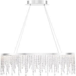 Platinum Collection Borderline Polished Chrome 36-Inch LED Pendant