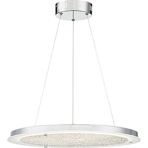 Platinum Collection Blaze Polished Chrome LED Pendant