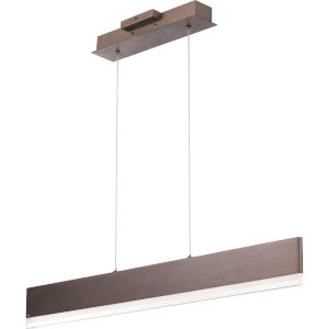 Cutlas Brushed Bronze 36-Inch LED Chandelier