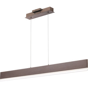 Cutlas Brushed Bronze 48-Inch LED Chandelier
