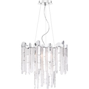 Platinum Collection Daybreak Polished Chrome Four-Light Chandelier