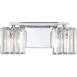 Platinum Collection Divine Polished Chrome Two-Light LED Vanity
