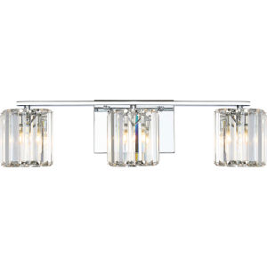 Platinum Collection Divine Polished Chrome Three-Light LED Vanity