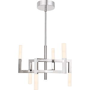 Platinum Collection Elevation Polished Chrome LED Chandelier