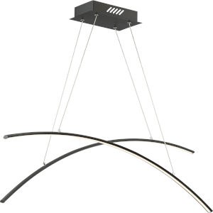 Platinum Collection Fanfare Earth Black LED Linear Pendant