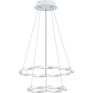 Finale White Lustre Integrated LED One-Light Semi-Flush Mount