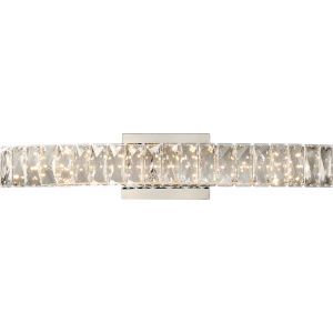 Platinum Collection Gala 24-Inch Polished Chrome Integrated LED Bath Light